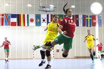 Seleção nacional sub20 de andebol feminino.