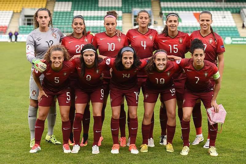 Resultado de imagem para Pela primeira vez, Portugal está no Europeu de Futebol Feminino