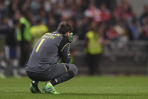Casillas e a desilusão do golo sofrido
