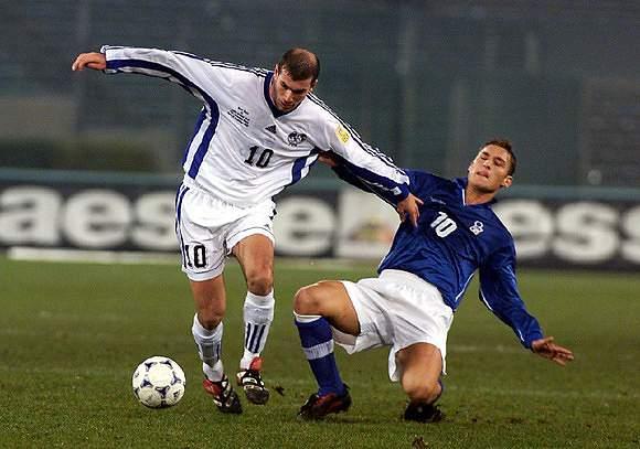 Numa luta com Zidane, num França-Itália