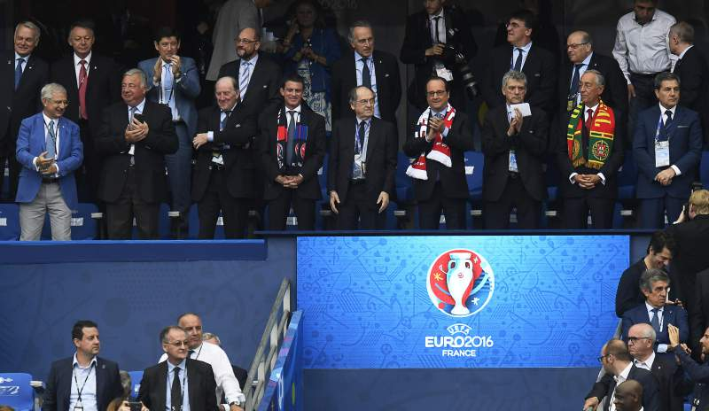 Bancada vip da final do Euro2016
