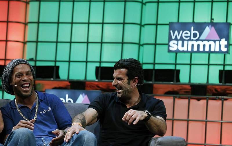 Craques do futebol na Web Summit