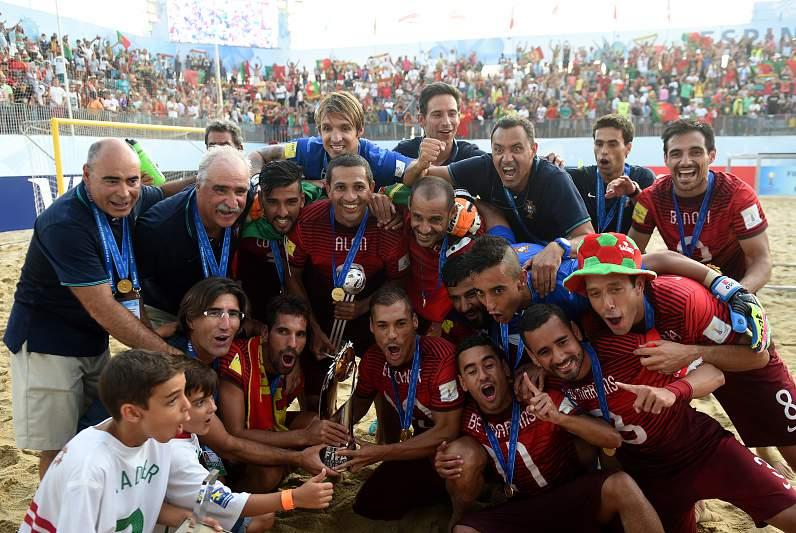 Portugueses celebram o título mundial