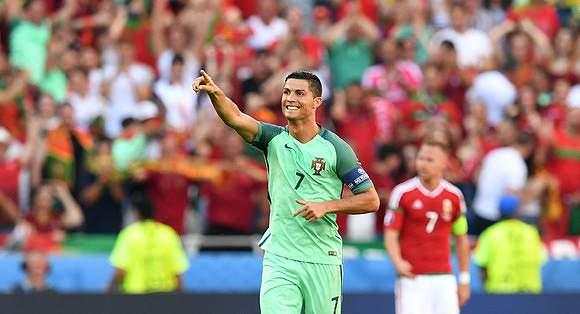 Ronaldo esteve em grande frente à Hungria
