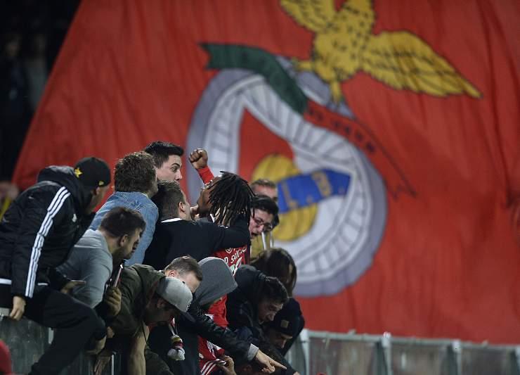 Renato Sanches celebra um golo em Guimarães