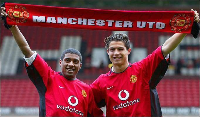 Apresentação no Manchester United (13/08/03)