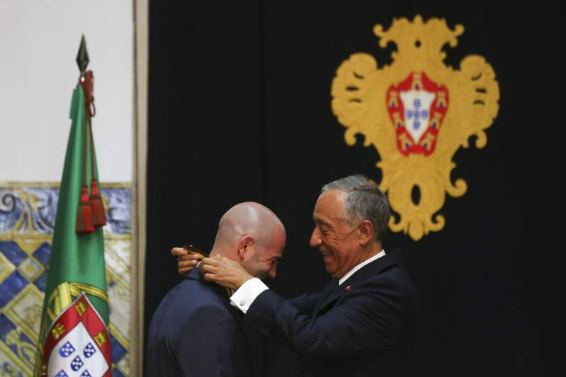 Ventura condecorado pelo Presidente