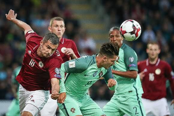 Letónia não conseguiu segurar Portugal