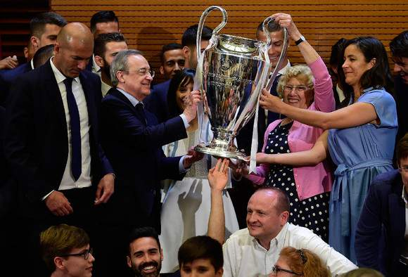 A festa merengue em Madrid
