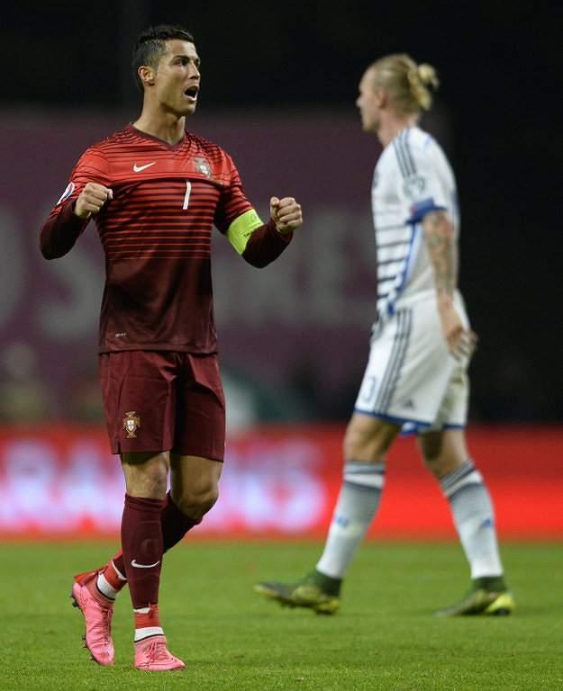 A alegria do Capitão Ronaldo