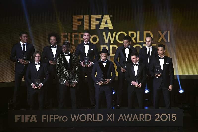 Cristiano Ronaldo no onze do ano da FIFA