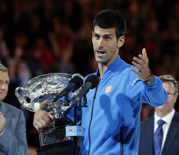 Djokovic fala com os jornalistas