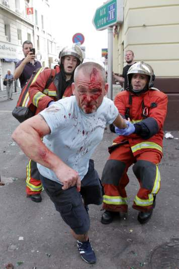 Violência entre adeptos no Euro2016