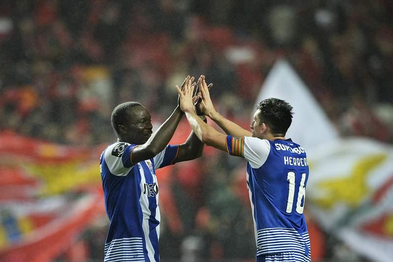 12 Fev:Aboubakar e Herrera celebram triunfo na Luz