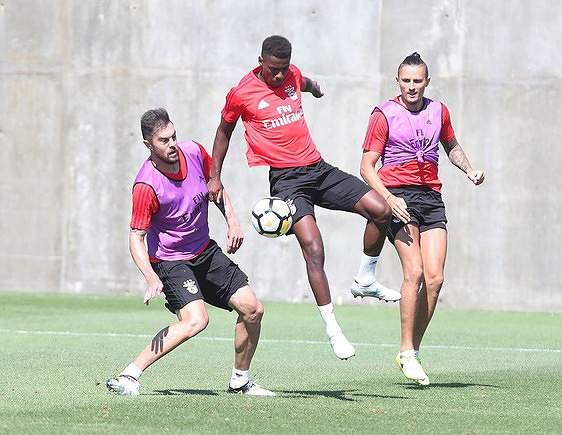Semedo em treino com o Benfica