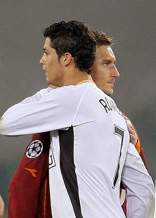 Totti e Cristiano Ronaldo