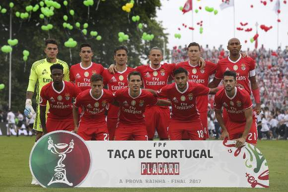 Equipa titular do Benfica no Jamor