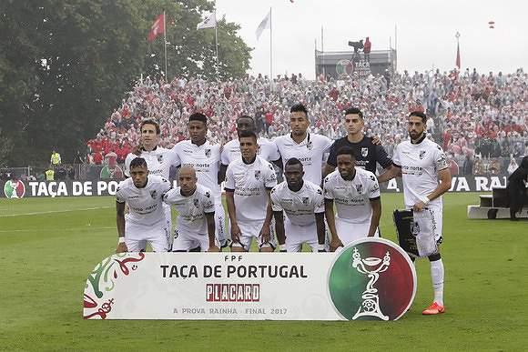 Equipa titular do Vitória SC no Jamor