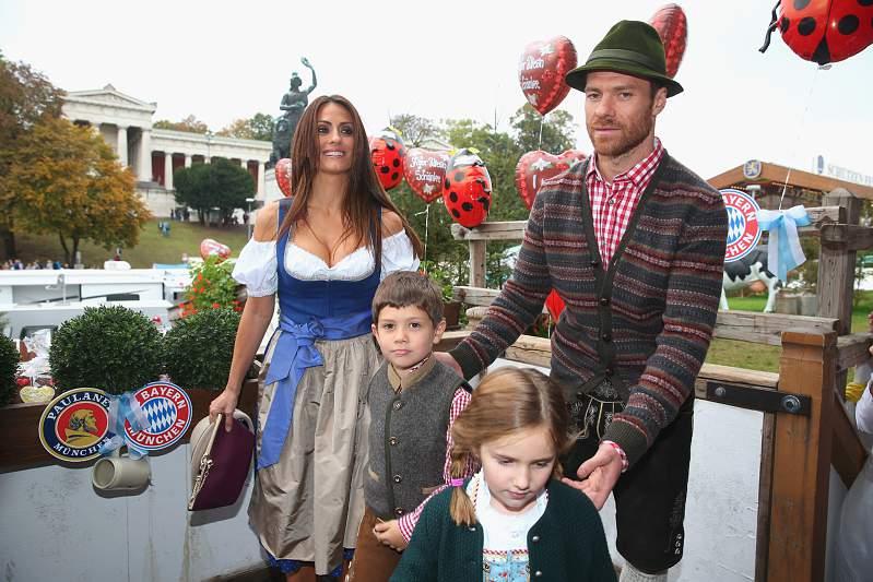 Nagore Aramburu, Xabi Alonso e os filhos