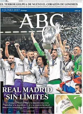 A 12.ª Champions do Real Madrid vista pela Europa