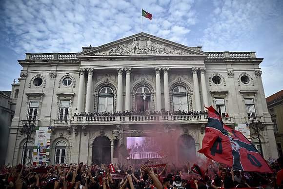 Benfica foi recebido na Câmara de Lisboa