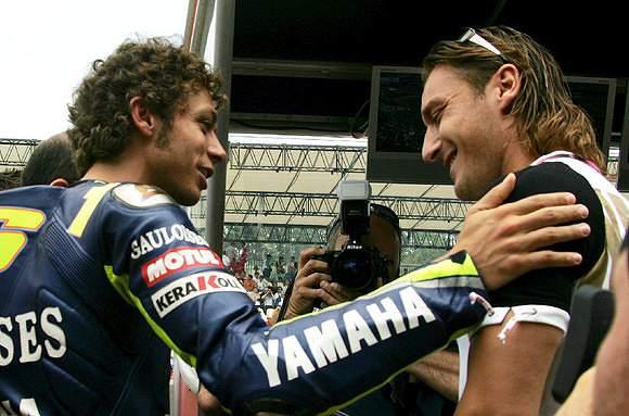 Totti e Valentino Rossi