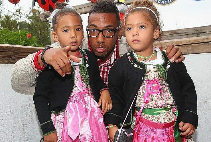 Boateng e as filhas