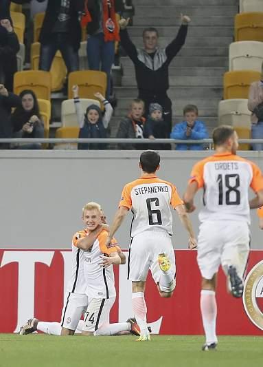 Shakhtar festeja segundo golo
