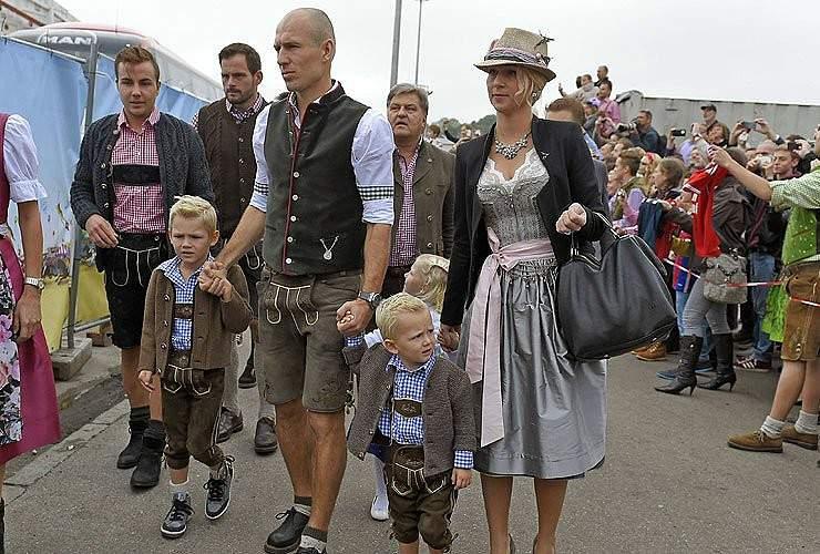 Robben, filhos e a mulher