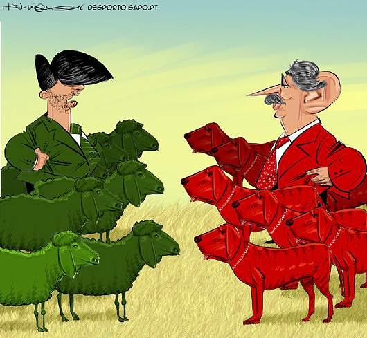 Os carneiros e os cães de fila