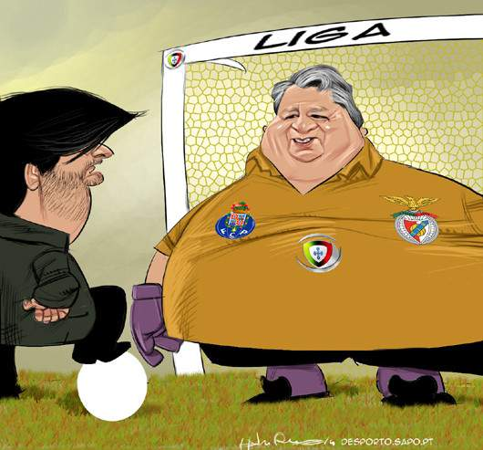 O gordo vai à baliza