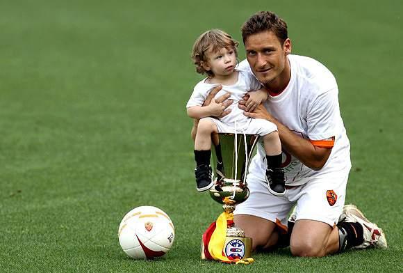 Totti e o filho Cristian
