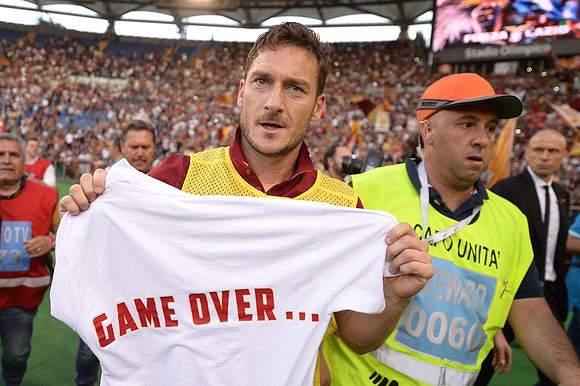 Acabou. No Totti, no party