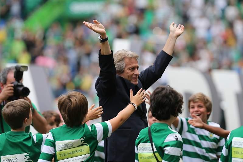 Jorge Jesus apresentado no Sporting