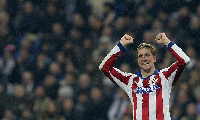 Torres celebra o triunfo do Atlético