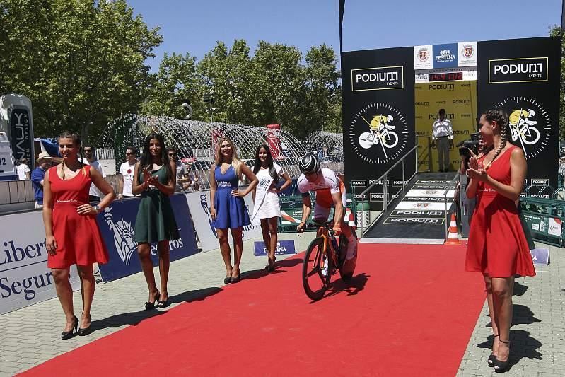 Pablo Urtasum foi o primeiro ciclista a sair