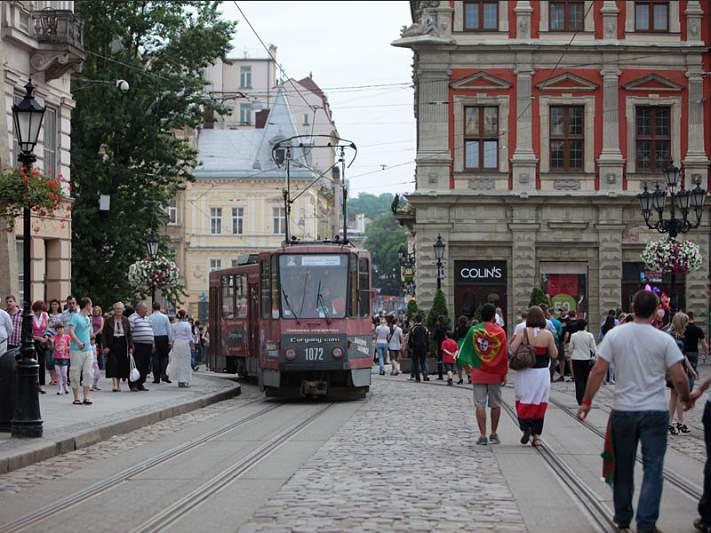 Eléctrico em Lviv