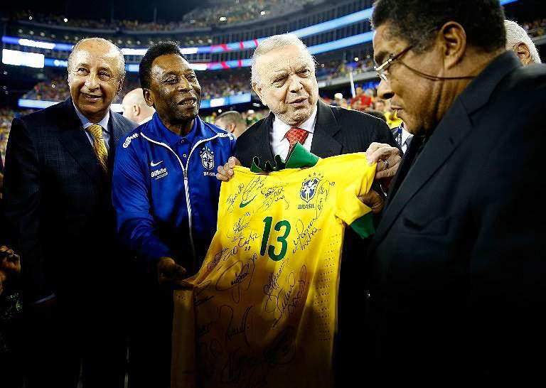 Eusébio, Pelé e José Maria Marín (2013)