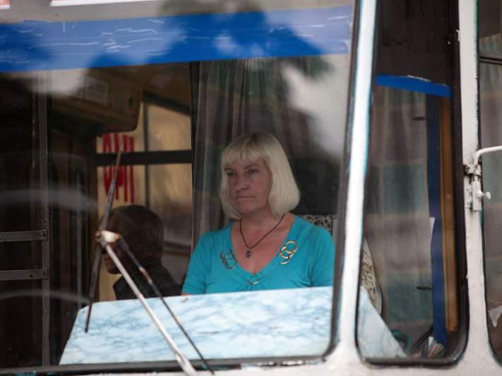 Condutora de eléctrico em Lviv
