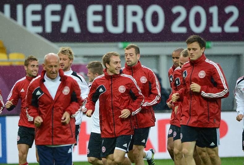 Dinamarca treina em Lviv