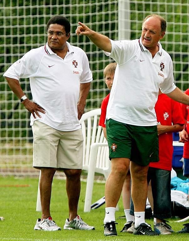 Eusébio e Scolari (2006)