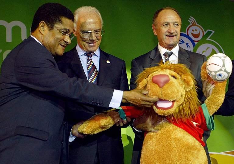 Eusébio, Beckanbauer e Scolari (2005)
