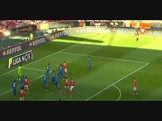 Benfica, Golo, Luís Aurélio (p.b.), 35m, 1-0