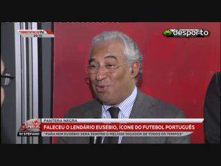 António Costa: Memória de Eusébio vai perdurar «para lá dos tempos»