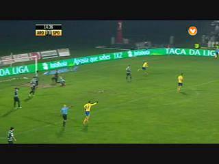 Arouca, Golo, Bruno Amaro, 15m, 1-0