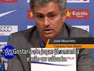 """Mourinho: """"Voltar a treinar, jogar e ganhar"""""""