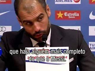 """Guardiola: """"Messi é o melhor em tudo!"""""""
