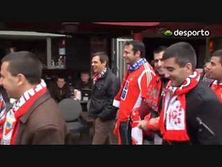Adeptos do Benfica com fé na vitória