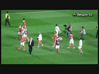 Benfica: Jogadores fizeram a festa no relvado