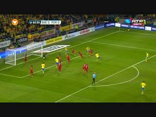 Suécia, Jogada, Ibrahimovic, 44m